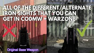 All of the Different Iron Sights in Warzone & CODMW + How to get them