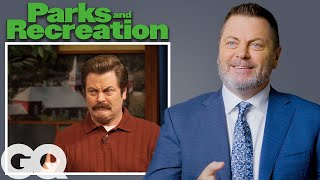 Nick Offerman Breaks Down His Most Iconic Characters | GQ