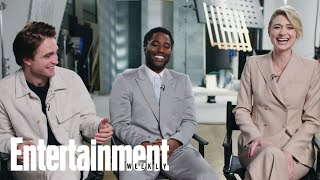 John David Washington, Robert Pattinson, & Elizabeth Debicki Dish On 'Tenet' | Entertainment Weekly