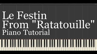 "Le Festin (From ""Ratatouille"") Piano Tutorial from my NEW ""Disney Piano Collection"" Covered by kno"