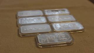 1oz, 5oz and 10oz silver bar Air-Tite Capsule unboxing and fit test.