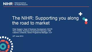 Bringing innovation to the NHS: The NIHR offer to MedTech
