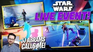 Star Wars Fortnite Live Event! JJ Abrams CALLS ME!?