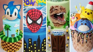 AMAZING Movie/TV Cakes Compilation! Sonic The Hedgehog, Spiderman, Jurassic Park,Winnie The Pooh
