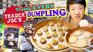 Trying EVERY DUMPLING at TRADER JOE'S | BEST Frozen SOUP DUMPLING!
