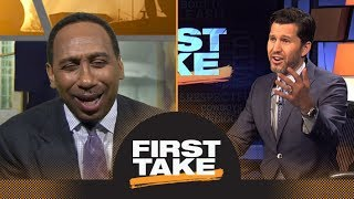 Stephen A. tries to annoy Will Cain by laughing over Dez Bryant's catch | First Take | ESPN