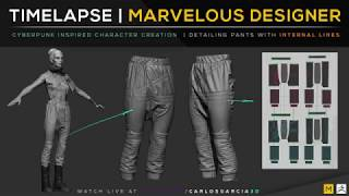 Marvelous Designer | Timelapse | Character Creation with CarlosGarcia3d