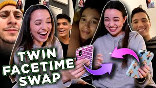 Twin Swap Facetime Prank on Our Friends- Merrell Twins
