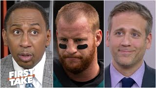 Max's drastic Carson Wentz trade proposal sets off Stephen A. | First Take