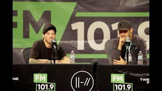 FM 101.9 Press Conference with Twenty One Pilots
