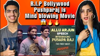 Allu Arjun Powerful Speech at Introducing Pushpa Raj | Introducing Pushpa Raj | Pakistani Reaction