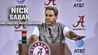 Nick Saban's press conference after first day of fall camp