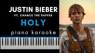 HOLY - Justin Bieber ft. Chance The Rapper - Piano 🎹 Karaoke 🎤 podkład / backing track