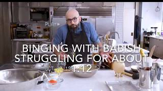 binging with babish struggling for about 1 minute and 12 seconds to wii music