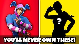 Top 20 RAREST Fortnite Skins You'll NEVER OWN!