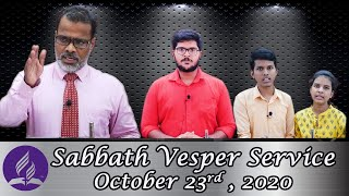 Sabbath Vesper Service (Malayalam) 23/10/2020 - Pastor Binoy Chacko - Seventh-Day Adventist Church