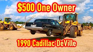 1990 Cadillac DeVille 1 Owner Charity Donated IAA $500 WIN!!! Run and Drive??