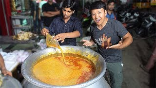 INSANE Mutton Soup & BEST Masala Dosa at 3 AM! Street Food Tour of Hyderabad India