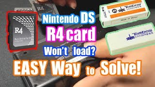 R4 won't work? Solution! Easy Fix with Rubber Eraser [Nintendo DS]