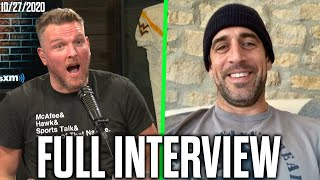 Pat McAfee & Aaron Rodgers Talks Week 7 Win, Interviews With Reporters, And Flip Cup