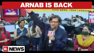 Arnab Goswami Returns To The Newsroom, Team Republic Welcomes Him With Loud Cheers