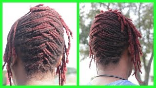 How To: Basket Weave On Short Locs Hairstyle / VERY DETAILED