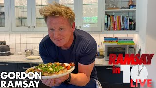 Gordon Ramsay Cooks Steak & Potatoes in Under 10 Minutes from Home | Ramsay in 10