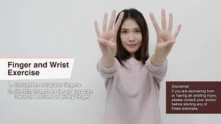 HNF Wellness EP 10 -  Stay home exercises (Finger & Wrist)