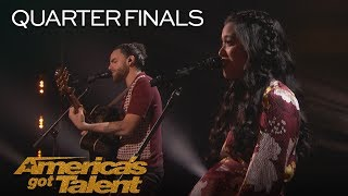 "Us The Duo: Married Couple Sings Adorable Original ""Like I Did With You"" - America's Got Talent 2018"