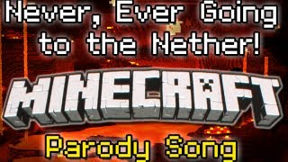 "♪ ""Never Ever Going to the Nether"" A Minecraft Song Parody of Taylor Swift's ""We Are Never.."" ♪"