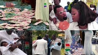 Full VIDEO of Captain Smart Baby Christening, Rev Obofour Spread Cash, Kuffour Dashes boy Cash