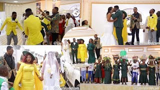 Rev Obofour Gives House & Car To Jnr Pastor At His Wedding, Sprays cash On Them