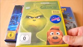Unboxing ~ BigFoot Junior,Chaos im Netz,Der Grinch,Ferdinand,Pets ~ Animationsfilme/DVD (German)