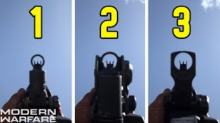 "ALL ""M4A1"" IRON SIGHTS AND HOW TO UNLOCK THEM!! - Call of Duty: Modern Warfare"