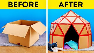 15 DIY CARDBOARD CRAFTS || Easy Upgrade Hacks and Plastic Recycle Ideas