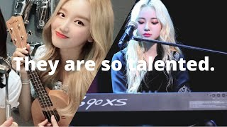 loona playing instruments: a compilation