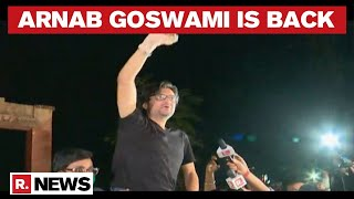 Arnab Goswami Comes Out Of Taloja Jail, Chants Of Vande Mataram Reverberate Amid Rousing Reception