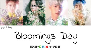 EXO-CBX (첸백시) + You - Bloomings Day (花요일) (4 Members) [Color Coded Lyrics/Rom]