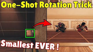 You Can Do a * ONE-SHOT * Rotation Holes And Use Them For Secret Flanks - Rainbow Six Siege