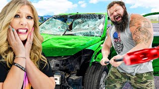 5 Ways to Destroy a Car with the World's Strongest Man!