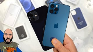iPhone 12 Pro vs iPhone 12 Unboxing + MagSafe Accessories!